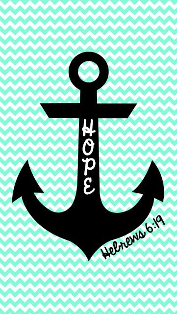 FREE Hope is an anchor... iPhone Wallpaper | MySunWillShine.com