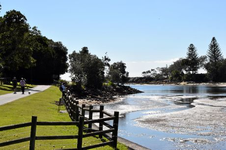 Walk along the river at Evans Head. NSW