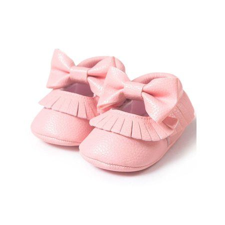 Nicesee Nicesee Baby Girl Bowknot Tassel Shoes Leather Walmart Com Baby Shoes Gold Baby Shoes Soft Baby Shoes