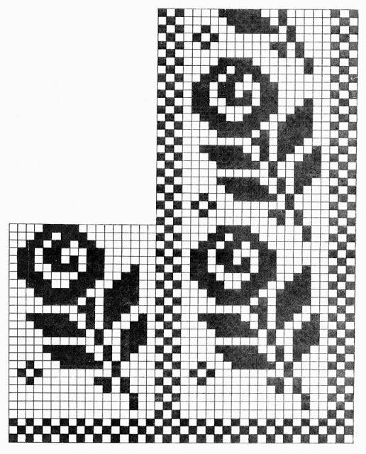 Mustrilaegas: CC Fileetehnika / вязание крючком филе