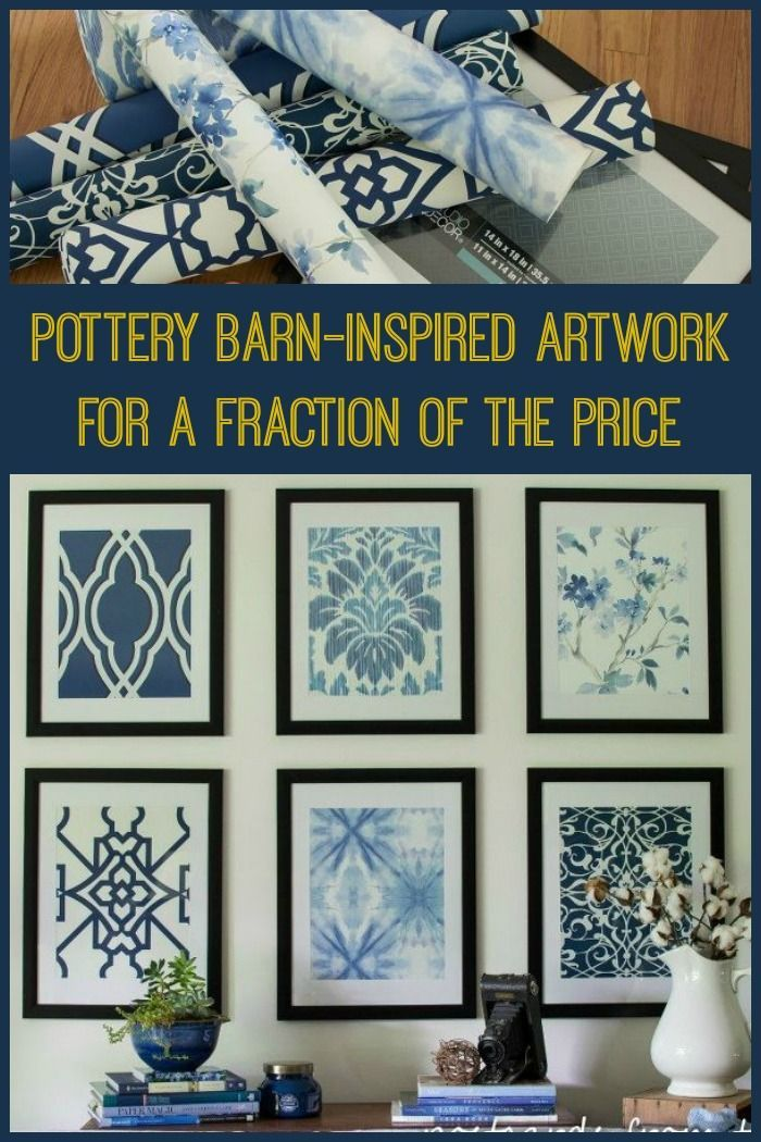 Pottery Barn-Inspired Artwork for a Fraction of the Price ~ I couldn't believe how she did this!