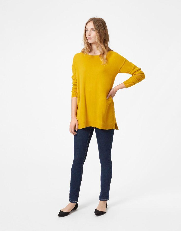 Rachel Antique Gold Sweater  | Joules US