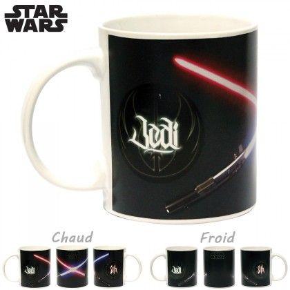 Mug Thermoréactif Star Wars - Duel Sabres Laser : Kas Design, Distributeur de Produits Star Wars