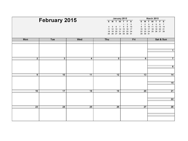 Best 25+ Blank Calendar Template 2015 Ideas On Pinterest | Blank