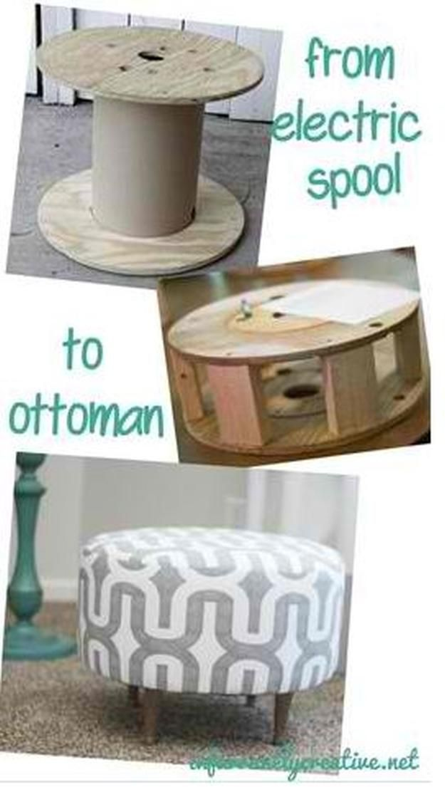 Wooden DIY Ottoman | 17 DIY Pouf Ideas, see more at http://diyready.com/17-diy-pouf-ideas