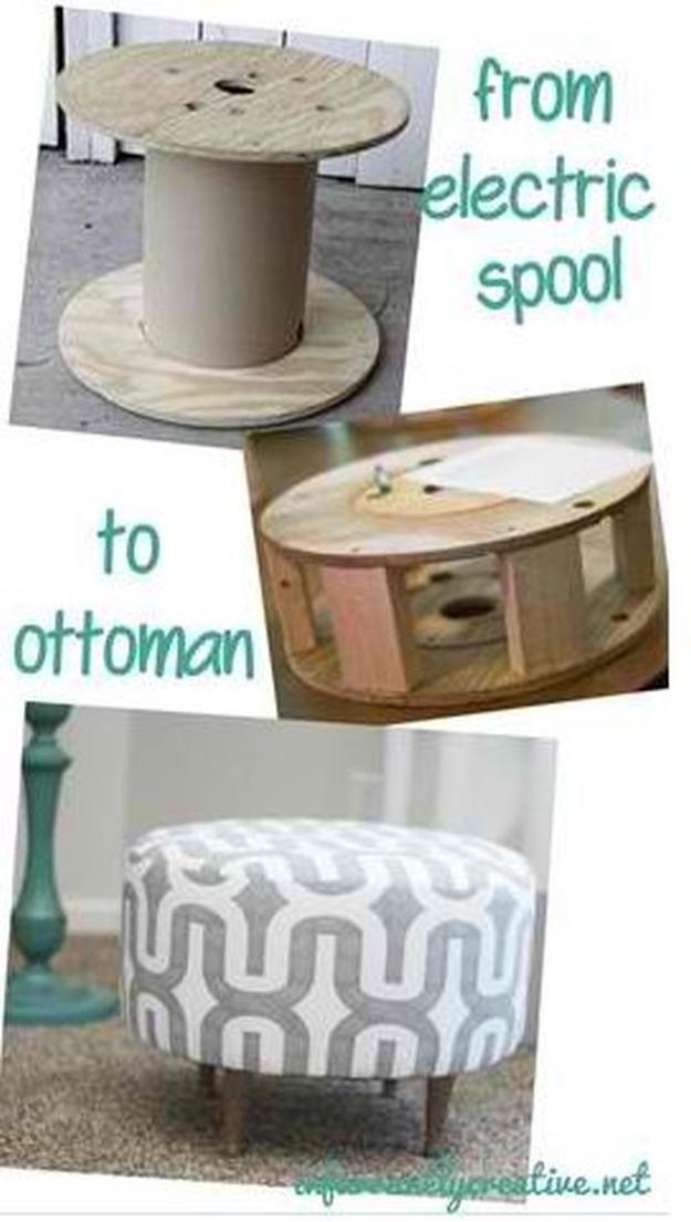 Wooden DIY Ottoman | 17 DIY Pouf Ideas, see more at http://diyready.com/17-diy-pouf-ideas