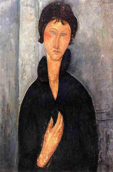 Женщина с голубыми глазами 1918