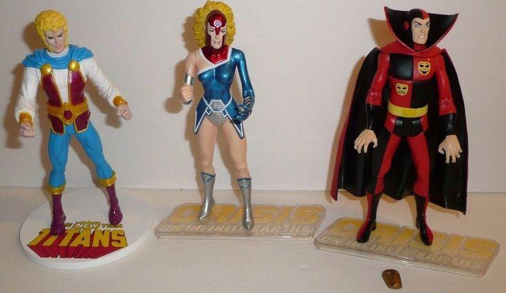Lot of 3 DC Direct Action Figures Harbinger Psycho Pirate Jericho Superhero  #DCDirect