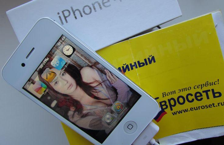iPhone 4s ЕВРОСЕТЬ продает худшие Подделки! Самая дорогая худшая подделка Айфона, магазина электроники в России!