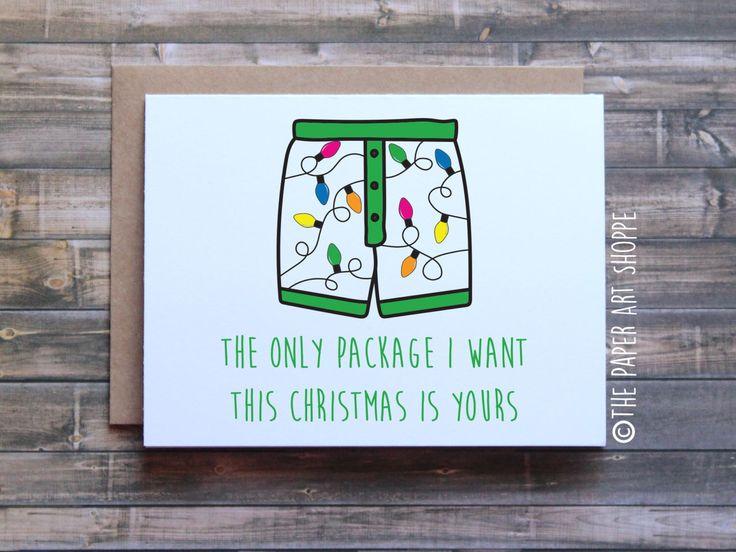 Funny Christmas Card, Funny Christmas Card For Boyfriend, Funny Christmas  Card For Husband,