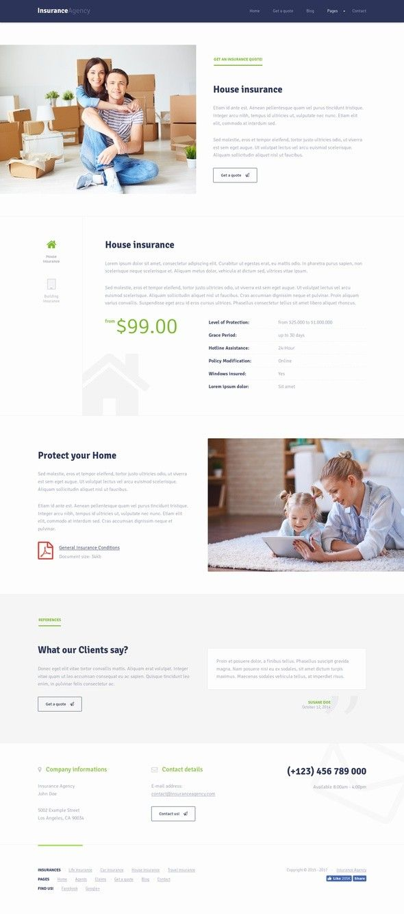 Insurance Wordpress Theme For Insurance Agency Wordpress Theme
