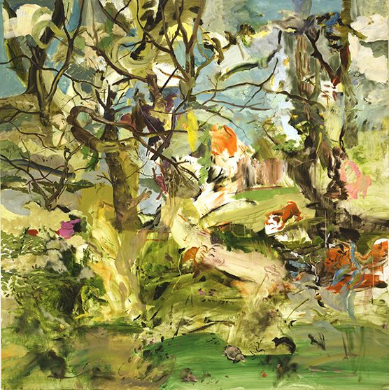 Lunge by Cecily Brown, oil painting, 2003