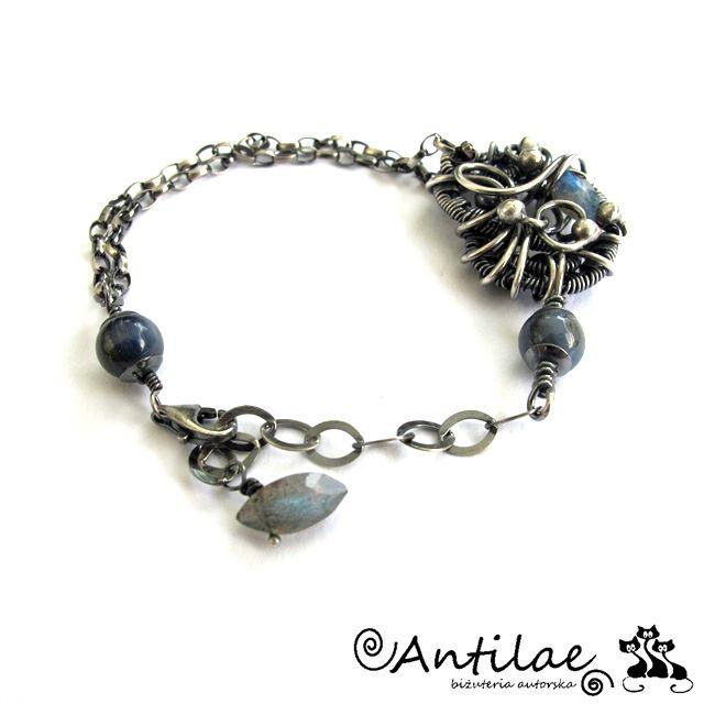 Labradoryt, kianit, srebro, biżuteria autorska, antilae - Antilae - biżuteria…
