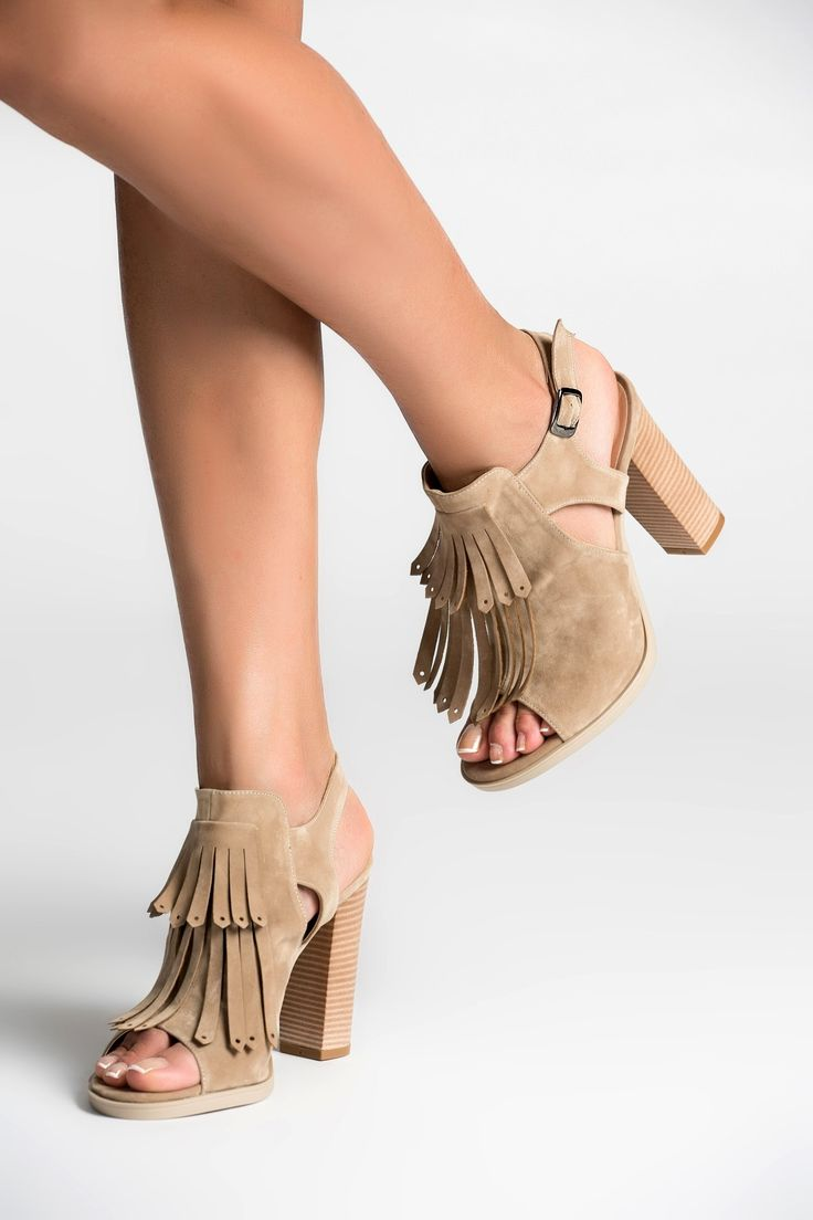Bej Süet Topuklu Ayakkabı MLASS165062 TRENDYOLMİLLA   Trendyol