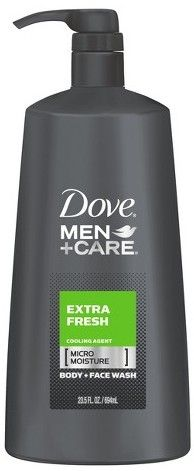 Dove Men+Care Extra Fresh Body Wash with Pump - 23.5oz