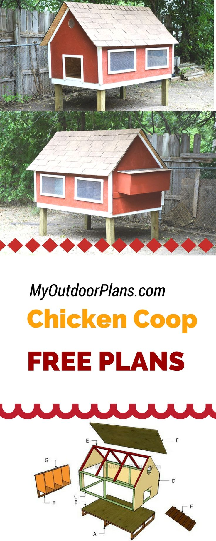 Les 74 meilleures images du tableau free chicken coop for Free chicken plans