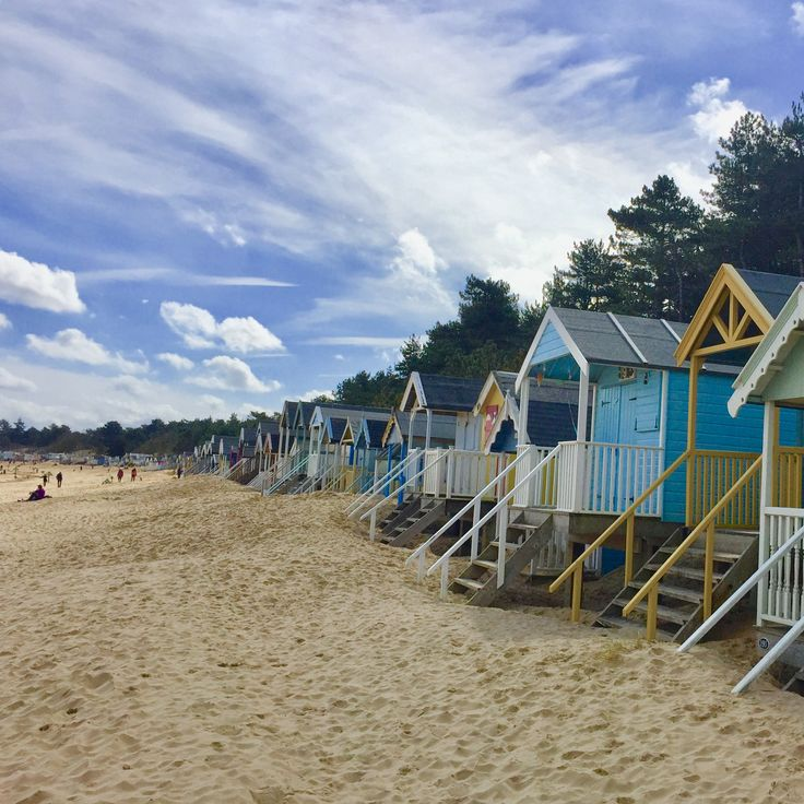 Wells Beach Huts, I love all the colours it's such a vibrant place to be. Book your dog and child friendly holiday in North Norfolk now - link in bio