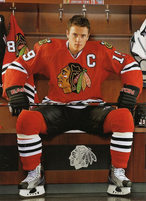 "This maybe ONE of my favorite Jonathan Toews picture...I love Kane's jersey sayin' ""how yo doin'"" from the corner."