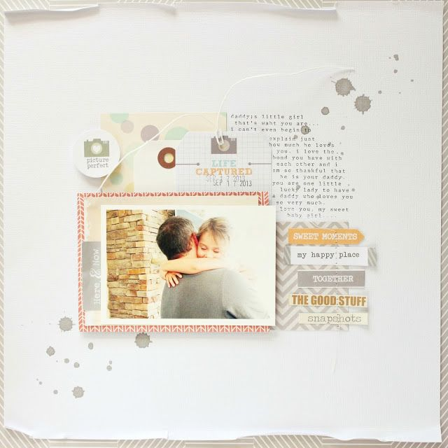 This is just one of the amazing layouts on this blog post. I love the soft tones and the typewriter journaling.