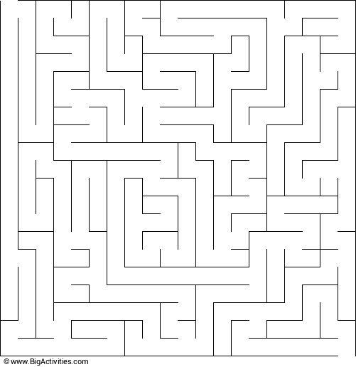 hard maze worksheet
