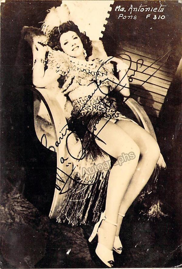 Pons, Maria Antonieta - Signed Photo Postcard