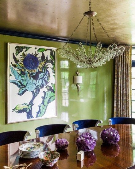 Pea Green Dining Room & 6 Other Must-See Paint Colors