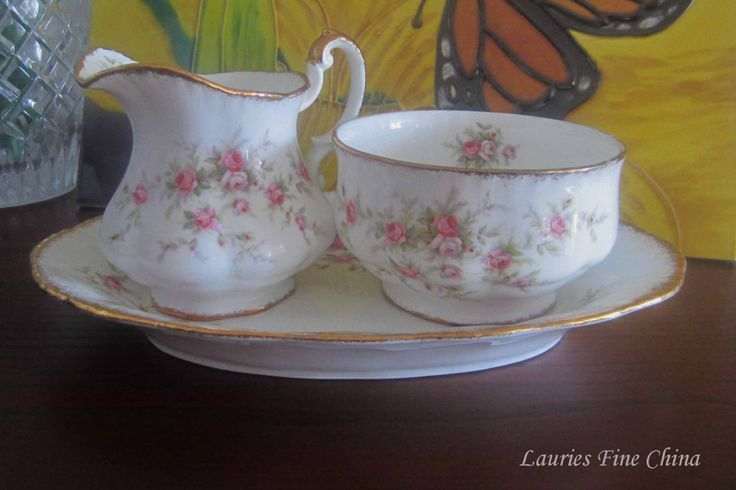 Free Shipping Paragon VICTORIANA ROSE - Bone China Mini Creamer, Open Sugar Bowl and Oval Tray - Made in England by…