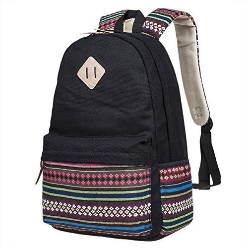 Kids School Book Bags Unisex Rucksack Canvas Backpack Laptop Travel Camping Gift