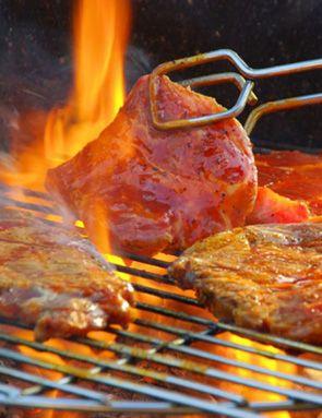 Rouelles de porc grillées