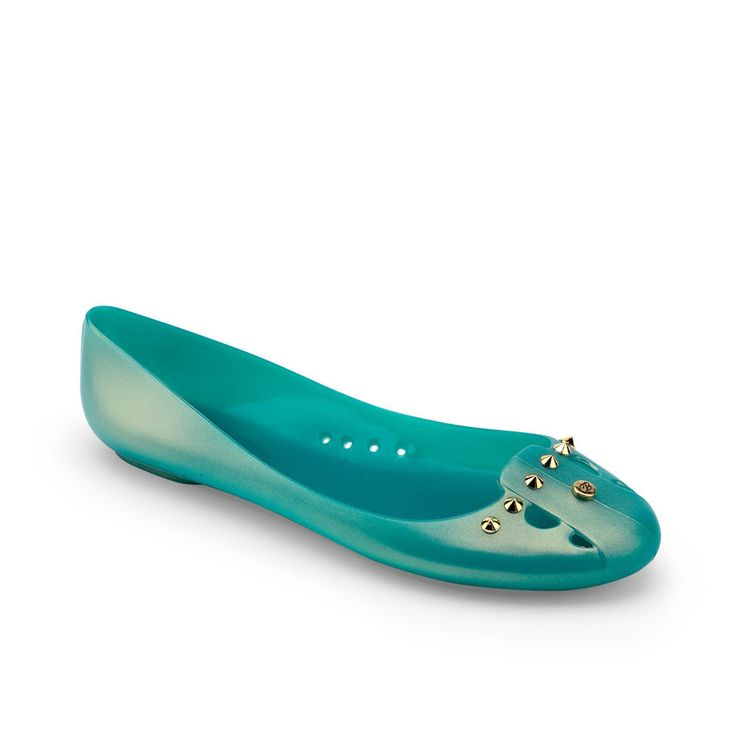Ballerina Pumps in Pvc with iridescent gold effect