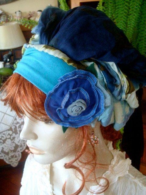 Headcover chemo hat headwrap womens headband by GypsyLoveHeadbands