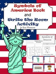 Teach or review the symbols of America with this book and write the room activity. Includes the following American Symbols: Statue of Liberty, Washington Monument, Lincoln Memorial, Liberty Bell, Bald Eagle, Mount Rushmore, White House, and American FlagAlso includes the following people: George Washington, Abraham Lincoln, Betsy Ross, and Donald TrumpCheck out my Washington and Lincoln Mini Unit.