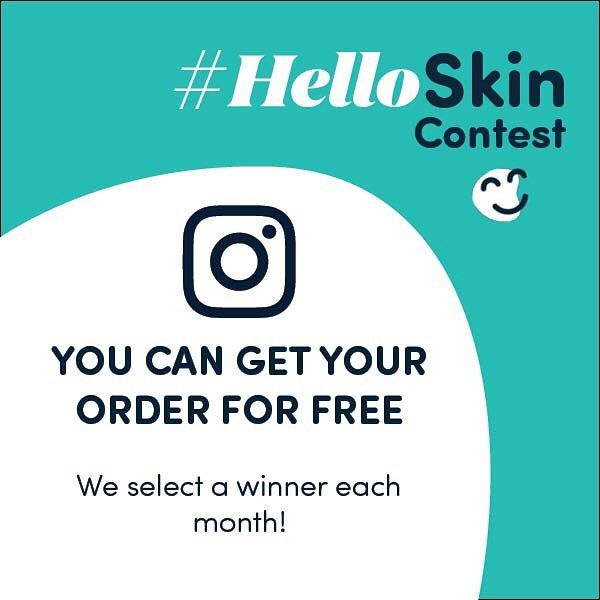 """#HelloSkin Contest YOU CAN GET THIS ORDER FOR FREE We select a winner each month!  To enter simply follow these instructions: 1- Follow @hello.skin on Instagram and/or Facebook 2- Post a photo from your order add #helloskin  in the caption 3- Make sure your profile's privacy settings are set to """"public"""" or else we won't be able to see your picture  You participate automatically in the contest when you take a picture of your order and add  #helloskin. Winners will be notified by e-mail and we…"""
