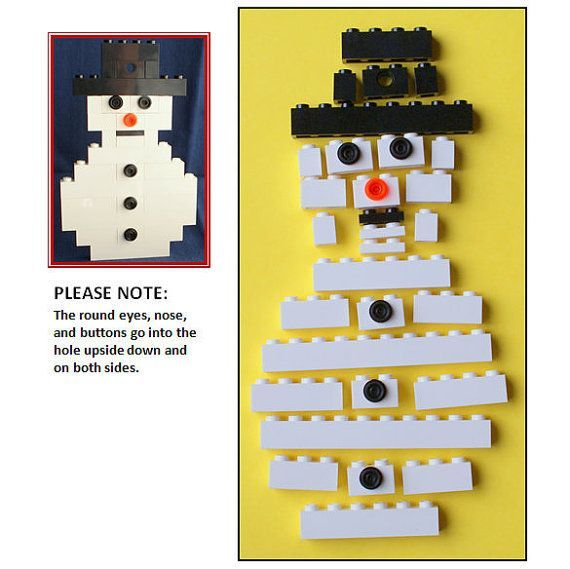 Buildit Kit LEGO Snowman Christmas Ornament by ornaments4charity, $16.00