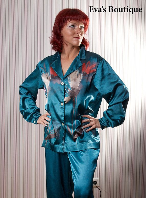 Natural silk pajama for women made to order by evarugina, €95.00