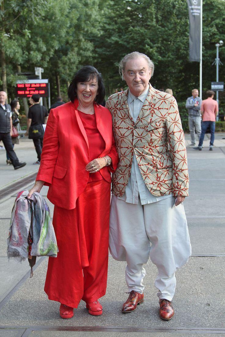 shoe disgner Jan Jansen with his wife Tonny. Fashionweek Amsterdam