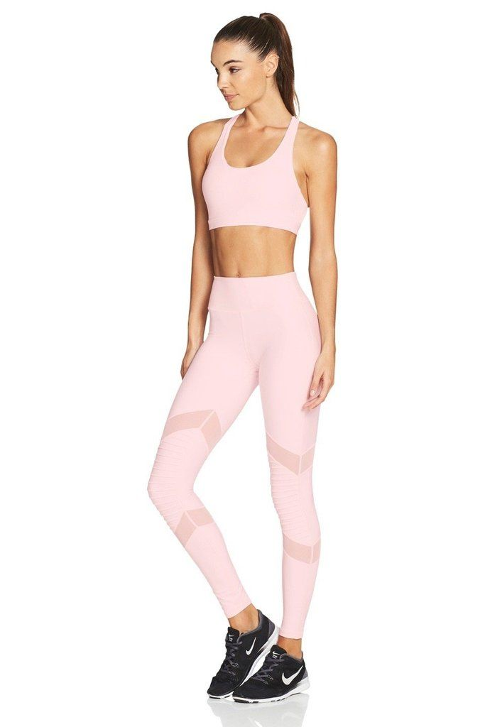 84593fe8fd8 CRISS CROSS Yoga Sports Bra/Crop Top - Pale Pink / Blush – Nimble Activewear