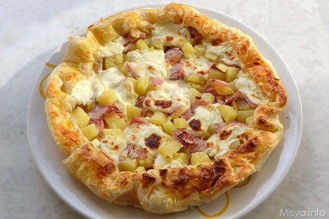 » Torta salata con patate e prosciutto Ricette di Misya - Ricetta Torta salata con patate e prosciutto di Misya
