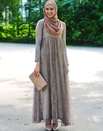 Ambreen Beige Lace Maxi Dress - Lauren