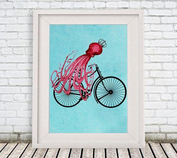 Avez-vous déjà vu une pieuvre sur un vélo ? Maintenant, oui