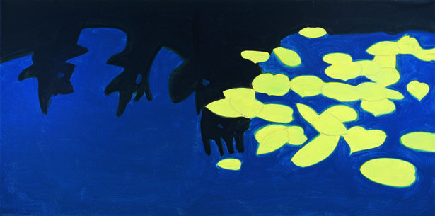 "Alex Katz, ""Homage to Monet 1,"" 2009. Oil on canvas, 183 x 366 cm. Courtesy of the artist © 2013, ProLitteris, Zurich.*"