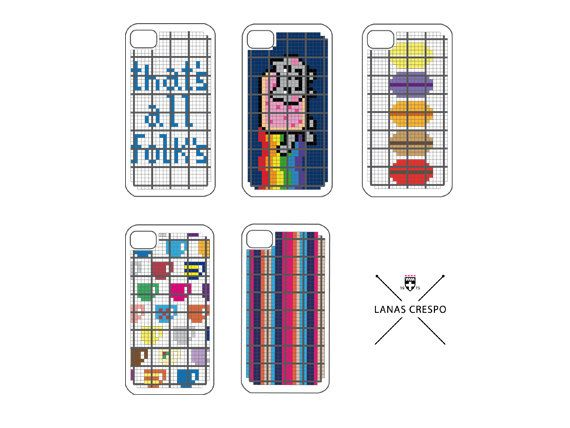 Patterns for iPhone  - 5 Cross Stitch PATTERNS -. $15.00, via Etsy.