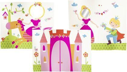 Princesses entrance #clean #room #storage #déco #design #kids #safe #scandinave #europeen #Flexa #play #curtains #bed #bedroom #kids