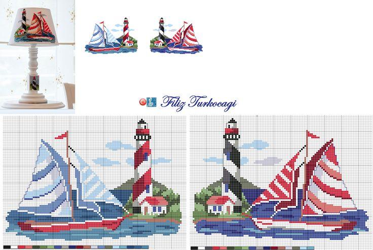 Sahile iniyoruz...Hangisini isterseniz...Designed and stitched by Filiz Türkocağı...
