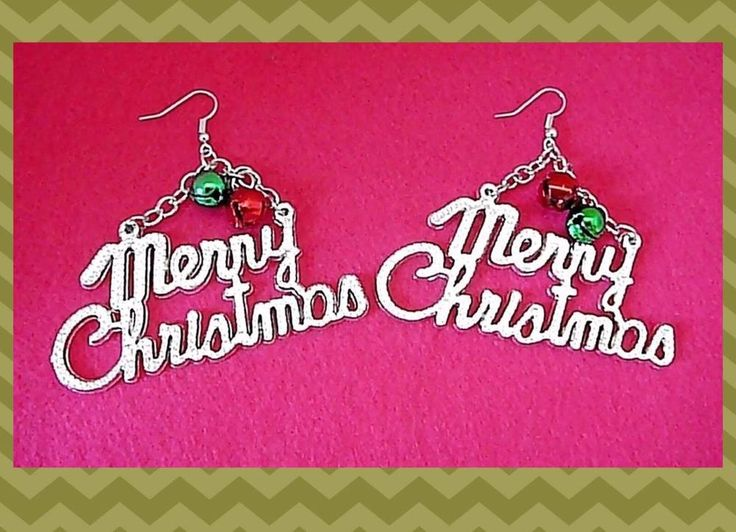 Christmas Festive  Earrings  with Jingle  Bell Charms Drop/dangle Earrings  | eBay