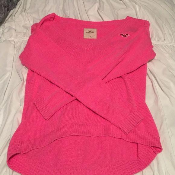 Pink Hollister sweater Size medium pink Hollister sweater Hollister Sweaters V-Necks