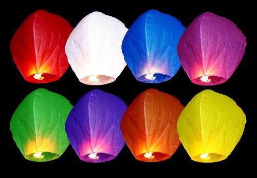 Moc kolorów! Najlepszymi okazjami do wypuszczania lampionów są festiwale, uroczystości, wesela, urodziny.