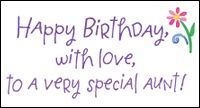happy birthday image for aunt - Google Search