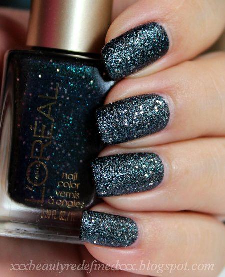 gold textured nail polish