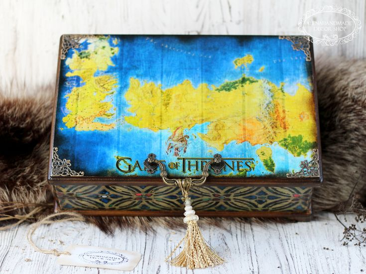 Excited to share the latest addition to my #etsy shop: Game of Thrones Map Large Wooden box Map Westeros and Essos jewelry box gift for fans GoT Birthday Gift for Husband Friend Dad Father Man http://etsy.me/2onol5f #furniture #storage #brown #birthday #fathersday #rai